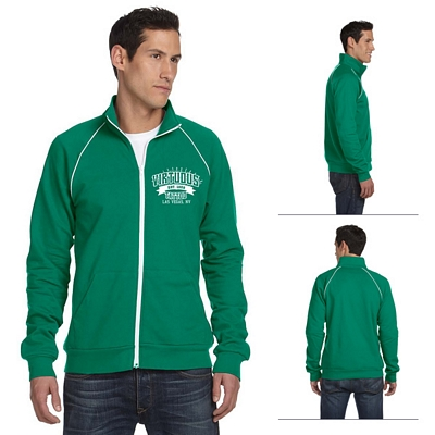 Customized Bella 3710 Men's Piped Fleece Jacket