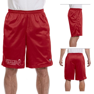 Customized Champion 81622 3.7 oz Long Mesh Shorts with Pockets