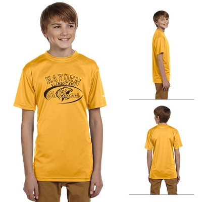 Customized Champion CW24 Youth 4 oz Double Dry Performance T-Shirt