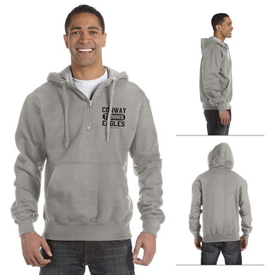 Customized Champion S185 9.7 oz Cotton Max Quarter-Zip Hood Sweatshirt