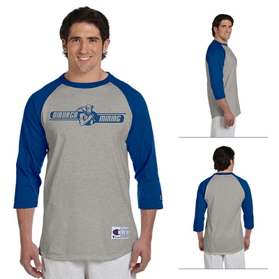 Customized Champion T1397 6.1 oz Tagless Raglan Baseball T-Shirt