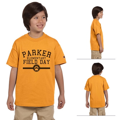 0d5ea676 Champion T435 Youth 6.1 oz Tagless T-Shirt | Screen Printed Logo ...