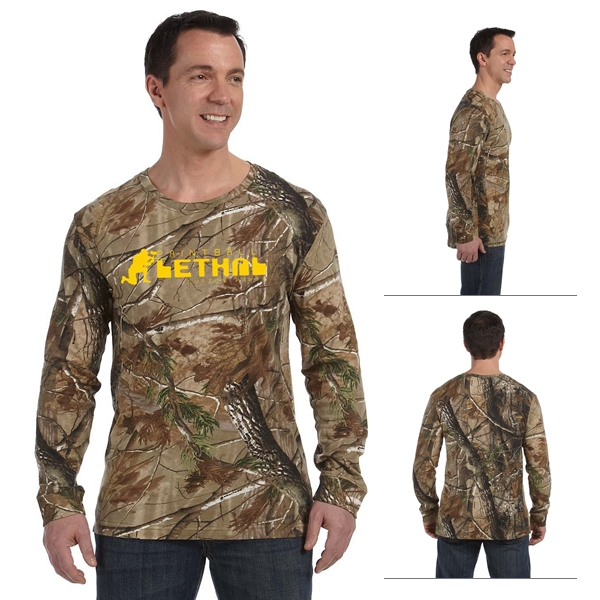 Code v 3981 realtree camouflage long sleeve t shirt for Camouflage t shirt printing