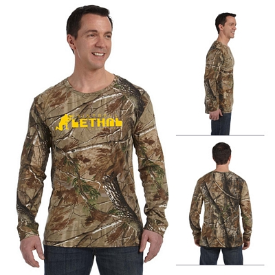 Customized Code V 3981 REALTREE Camouflage Long-Sleeve T-Shirt