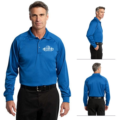 Customized CornerStone CS410LS Select Long Sleeve Snag-Proof Tactical Polo