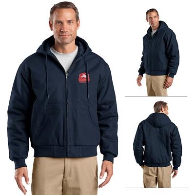 Customized CornerStone J763H Duck Cloth Hooded Work Jacket
