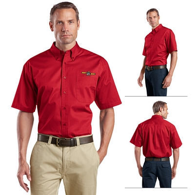 Customized CornerStone SP18 Short Sleeve SuperPro Twill Shirt