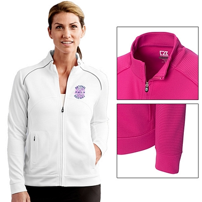 Customized Cutter & Buck LCK08514 Ladies CB DryTec Edge Full Zip