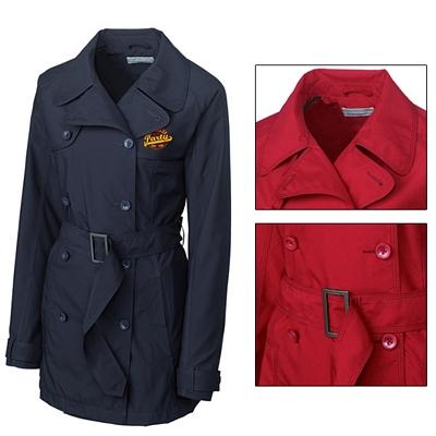 Customized Cutter & Buck LCO01198 Ladies CB WeatherTec Mason Trench Coat