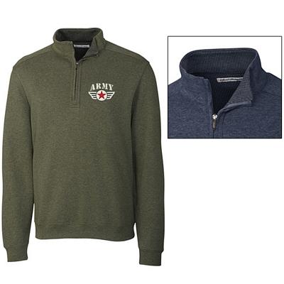 Customized Cutter & Buck MCK00760 Mens Forest Park Half Zip Jacket
