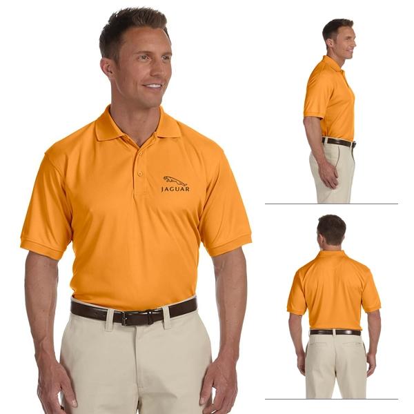 Devon /& Jones Mens Dri-Fast Advantage Solid Mesh Polo Shirt Lake Blue 4XL
