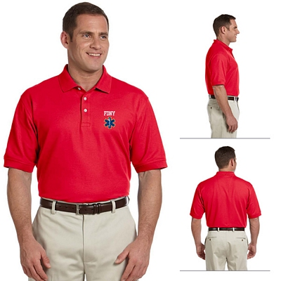Customized Devon & Jones D100 Mens Pima Pique Short-Sleeve Polo