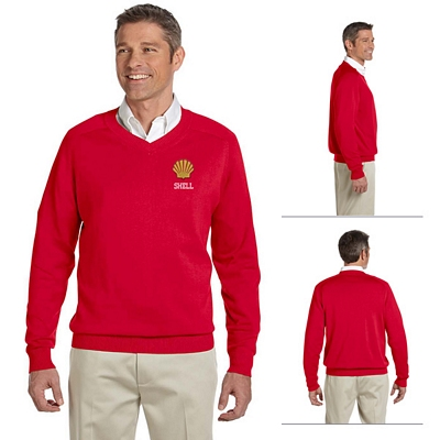Customized Devon & Jones D475 Mens V-Neck Sweater