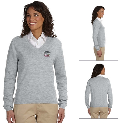 Customized Devon & Jones D475W Ladies V-Neck Sweater