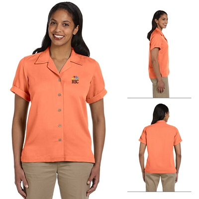 Customized Devon & Jones D670W Ladies Isla Camp Shirt
