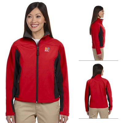 Customized Devon & Jones D997W Ladies Soft Shell Colorblock Jacket
