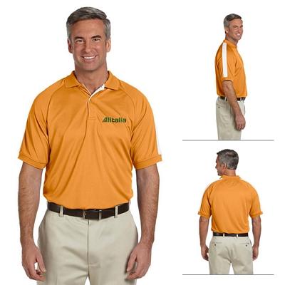 Customized Devon & Jones DG375 Mens Dri-Fast Advantage Colorblock Mesh Polo