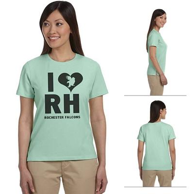 Customized Devon & Jones DP155W Ladies Stretch Jersey T-Shirt