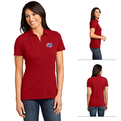 Customized District Made DM450 Ladies' Slub Polo