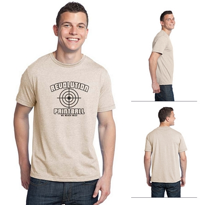 Customized District DT142 Young Men's Tri-Blend Crew Neck Tee