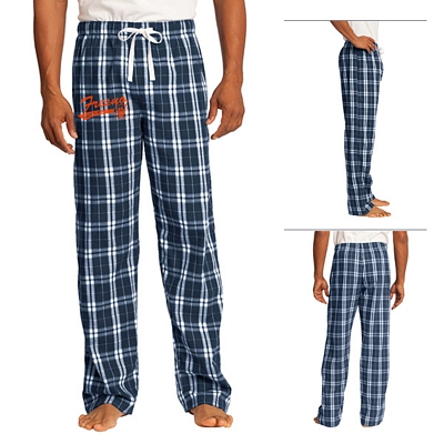 District DT1800 Young Men's Flannel Plaid Pant | Screen Printed Logo  District Flannel Pants
