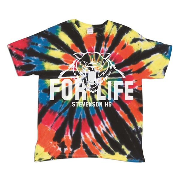 c8063df5a7d Dyenomite 200TD Rainbow Cut Spiral Tie-Dye T-Shirt