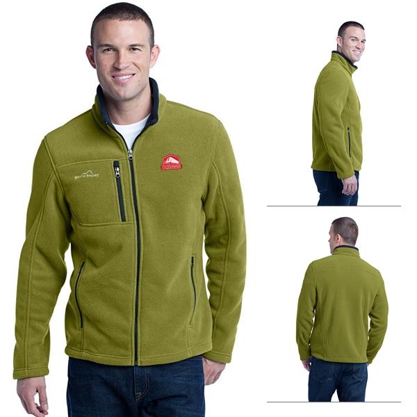 7c1025c647f Eddie Bauer EB200 Men s Full-Zip Fleece Jacket. Black. Palm. Grey Steel