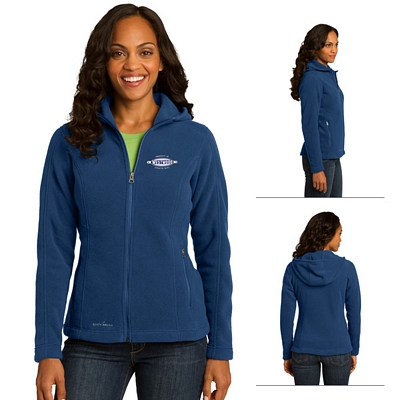 Customized Eddie Bauer EB206 Ladies' Hooded Full-Zip Fleece Jacket