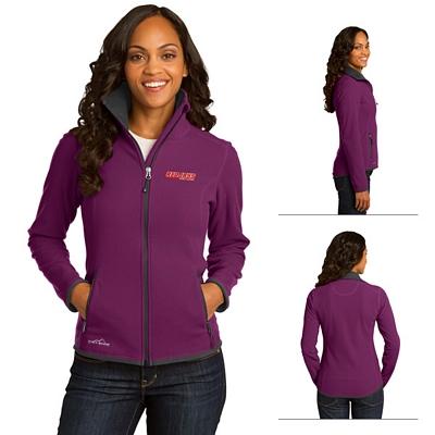 Customized Eddie Bauer EB223 Ladies' Full-Zip Vertical Fleece Jacket