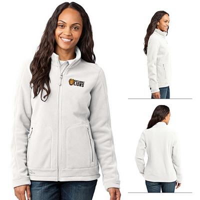 Customized Eddie Bauer EB231 Ladies' Wind Resistant Full-Zip Fleece Jacket