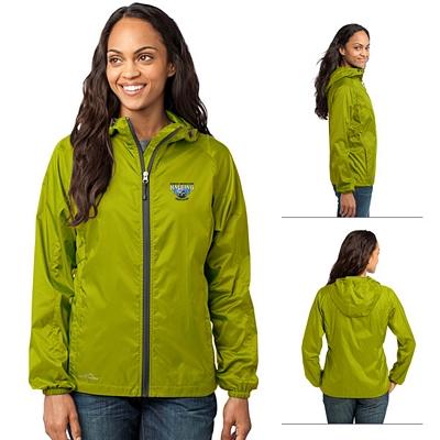 Customized Eddie Bauer EB501 Ladies' Packable Wind Jacket