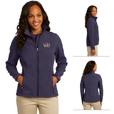 Customized Eddie Bauer EB533 Ladies' Shaded Crosshatch Soft Shell Jacket