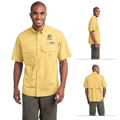 Customized Eddie Bauer EB608 Short Sleeve Fishing Shirt