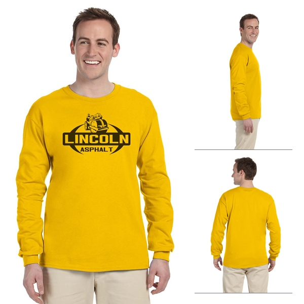 ea7922f7 Gildan 2400 Adult 6 oz Ultra Cotton Long-Sleeve T-Shirt | Screen ...