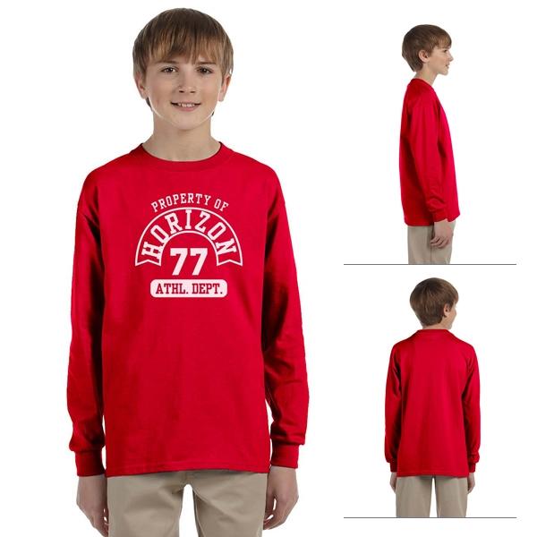 Gildan Youth Long Sleeve T-shirt Cotton Long Sleeve T-shirt