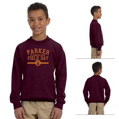 Customized Gildan 18000B Youth Heavy Blend Crewneck Sweatshirt