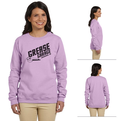Customized Gildan 18000FL Ladies' 8 oz HeavyBlend Fleece Crew Sweatshirt
