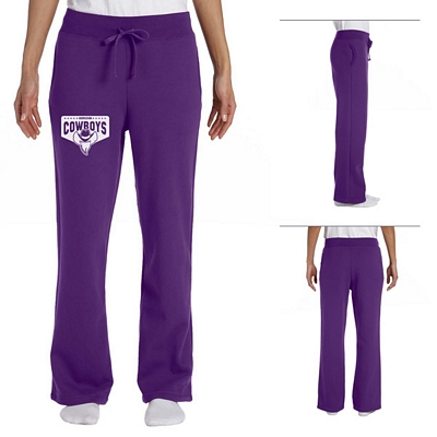 Customized Gildan 18400FL Ladies' 8 oz Heavy Blend Open-Bottom Sweatpants
