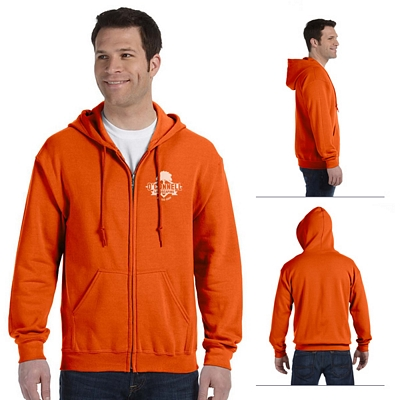 Customized Gildan 18600 Adult 8 oz Heavy Blend Full Zip Hood Sweatshirt