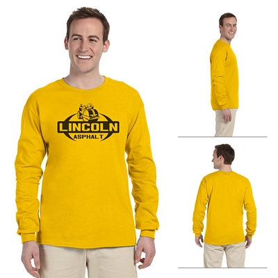 26bbc1e2 Gildan 2400 Adult 6 oz Ultra Cotton Long-Sleeve T-Shirt | Screen ...