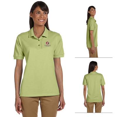 Customized Gildan 3800L Ladies' 6.5 oz Ultra Cotton Pique Knit Polo Shirt