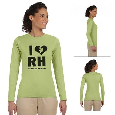 Customized Gildan 64400L Ladies' 4.5 oz SoftStyle Junior Fit Long-Sleeve T-Shirt