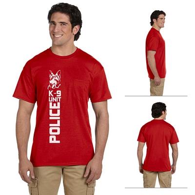 770224db Gildan 8300 Adult 5.6 oz DryBlend Poly-Cotton Pocket T-Shirt | Screen ...