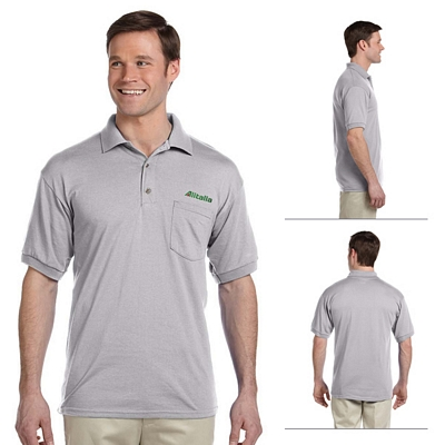 Customized Gildan 8900 DryBlend 5.6 oz Jersey Knit Sport Pocket Polo