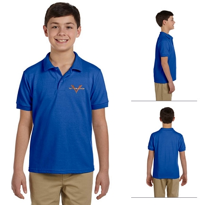 Customized Gildan 94800B Youth 6.5 oz DryBlend Pique Sport Polo Shirt