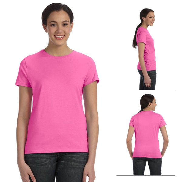 086b72403 Hanes SL04 Ladies' 4.5 oz 100% Ringspun Cotton nano-T T-Shirt (Non-Printed)