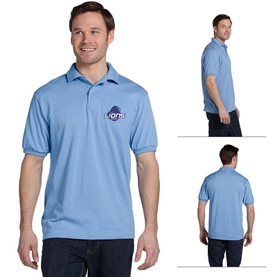 Customized Hanes 054X 5.2 oz Comfortblend EcoSmart 50/50 Jersey Knit Sport Polo