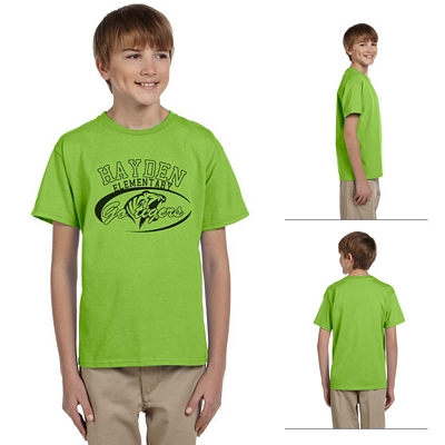 Customized Hanes 5370 Youth 5.5 oz 50/50 ComfortBlend EcoSmart T-Shirt