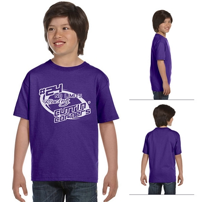 Customized Hanes 5480 Youth 5.2 oz ComfortSoft Cotton T-Shirt