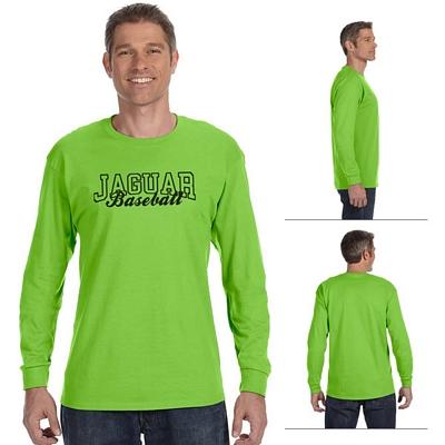 Customized Hanes 5586 Adult 6.1 oz Tagless ComfortSoft Long-Sleeve T-Shirt